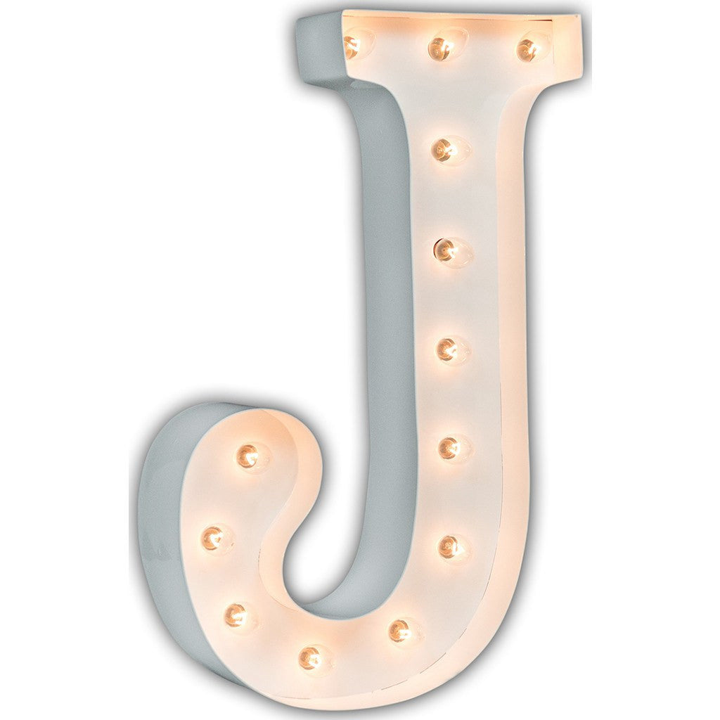 "Vintage Marquee Lights 24"" Letter J Decorative Light 