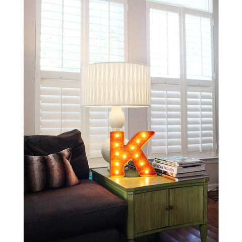 "Vintage Marquee Lights 12"" Letter K Decorative Light 