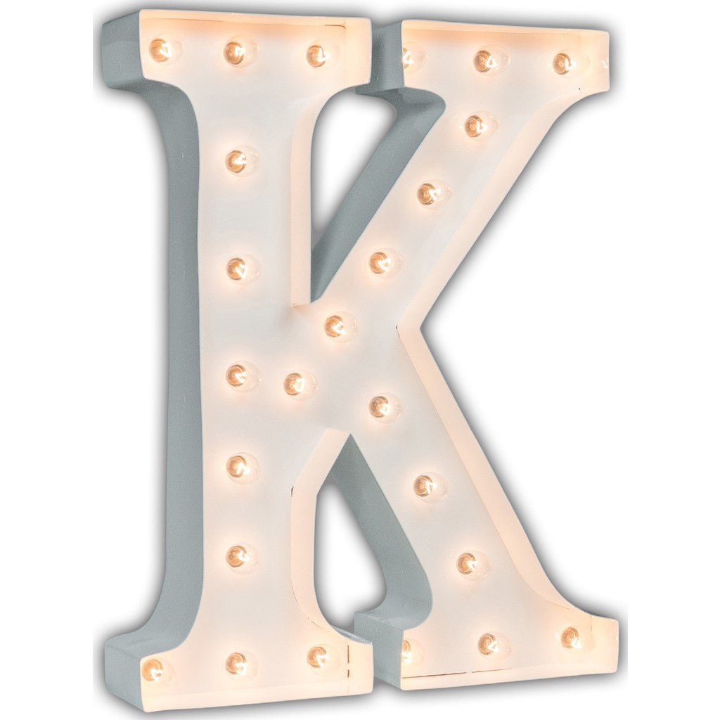 "Vintage Marquee Lights 24"" Letter K Decorative Light 