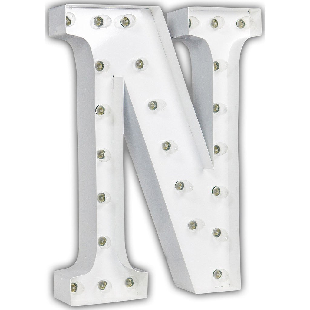 "Vintage Marquee Lights 24"" Letter N Decorative Light 