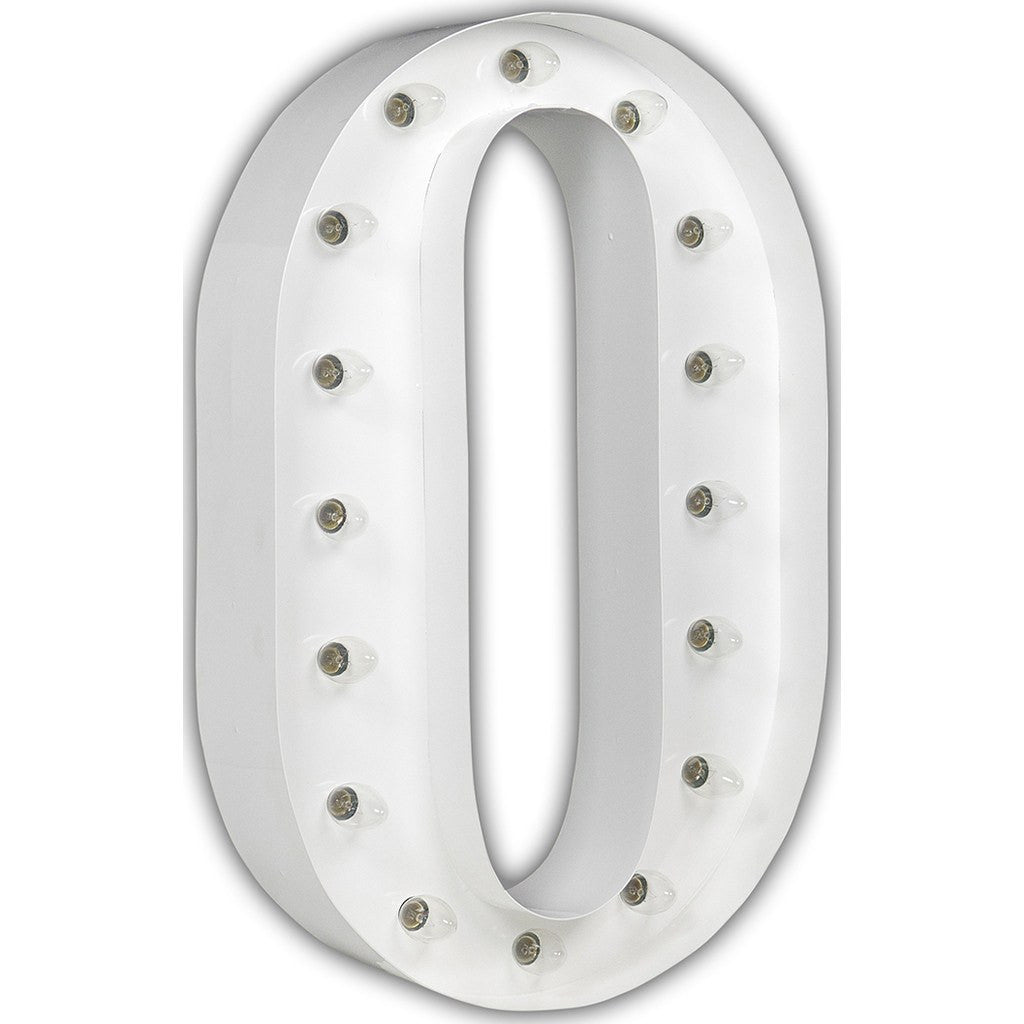 "Vintage Marquee Lights 24"" Letter O Decorative Light 