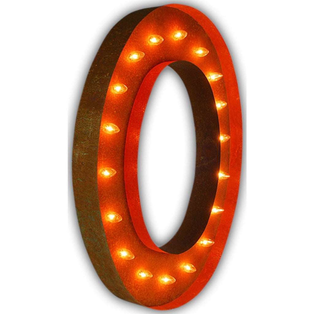 "Vintage Marquee Lights 36"" Letter O Decorative Light 