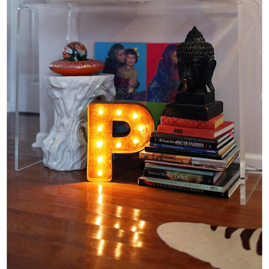 "Vintage Marquee Lights 12"" Letter P Decorative Light 