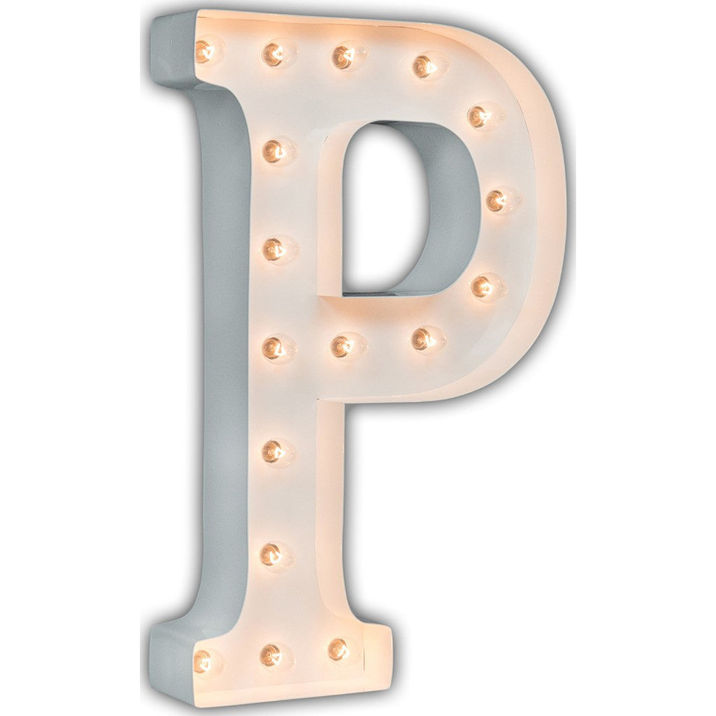 "Vintage Marquee Lights 24"" Letter P Decorative Light 
