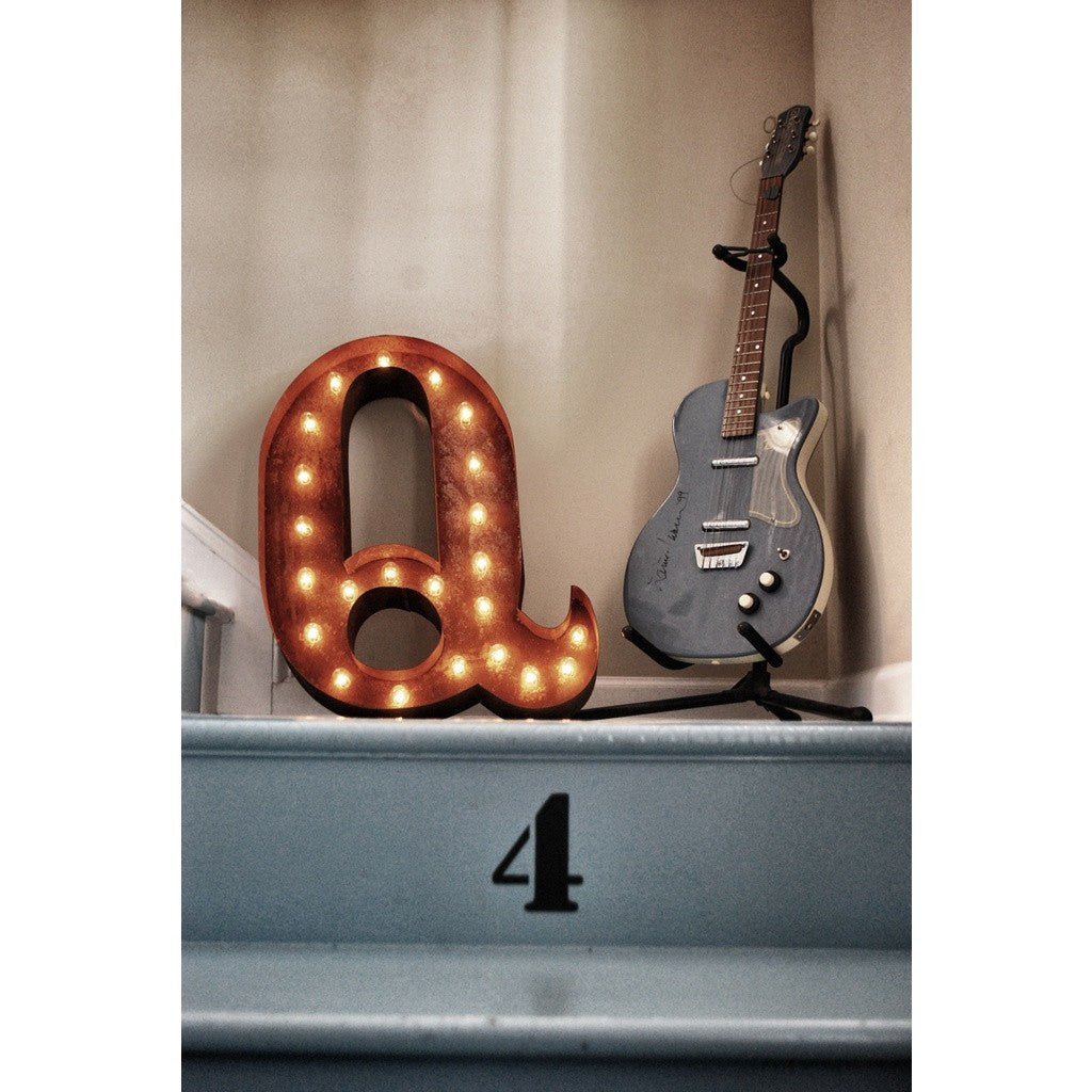 "Vintage Marquee Lights 24"" Letter Q Decorative Light 