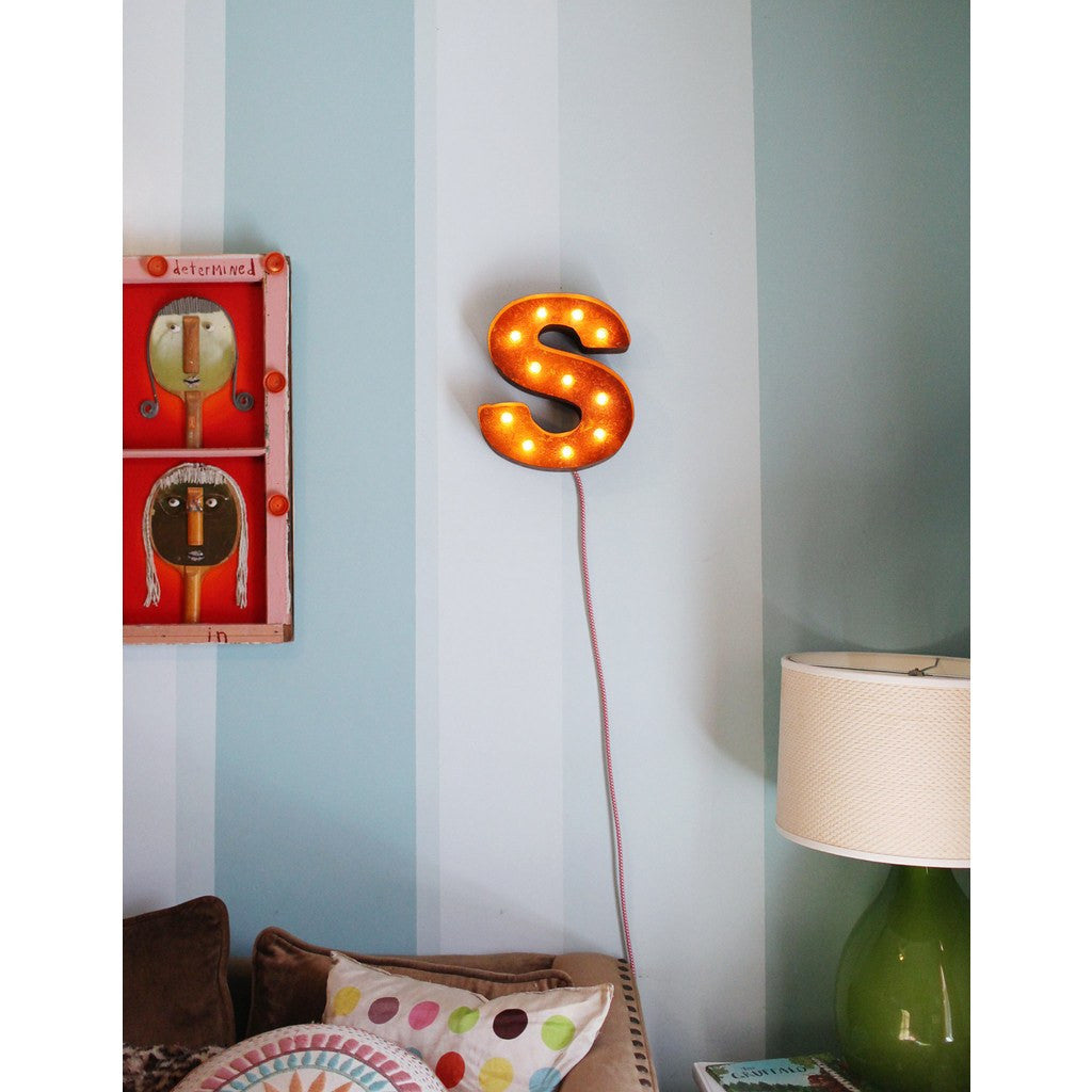 "Vintage Marquee Lights 12"" Letter S Decorative Light 