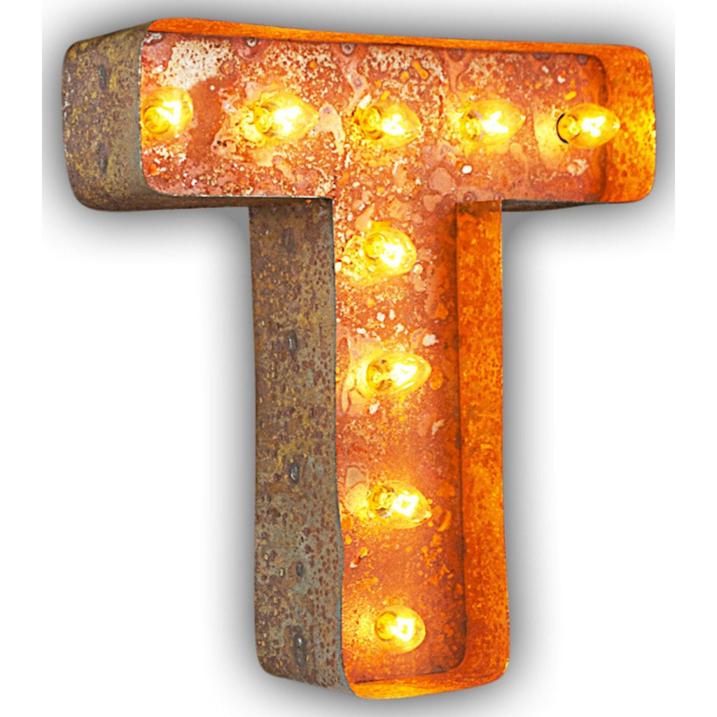 "Vintage Marquee Lights 12"" Letter T Decorative Light 