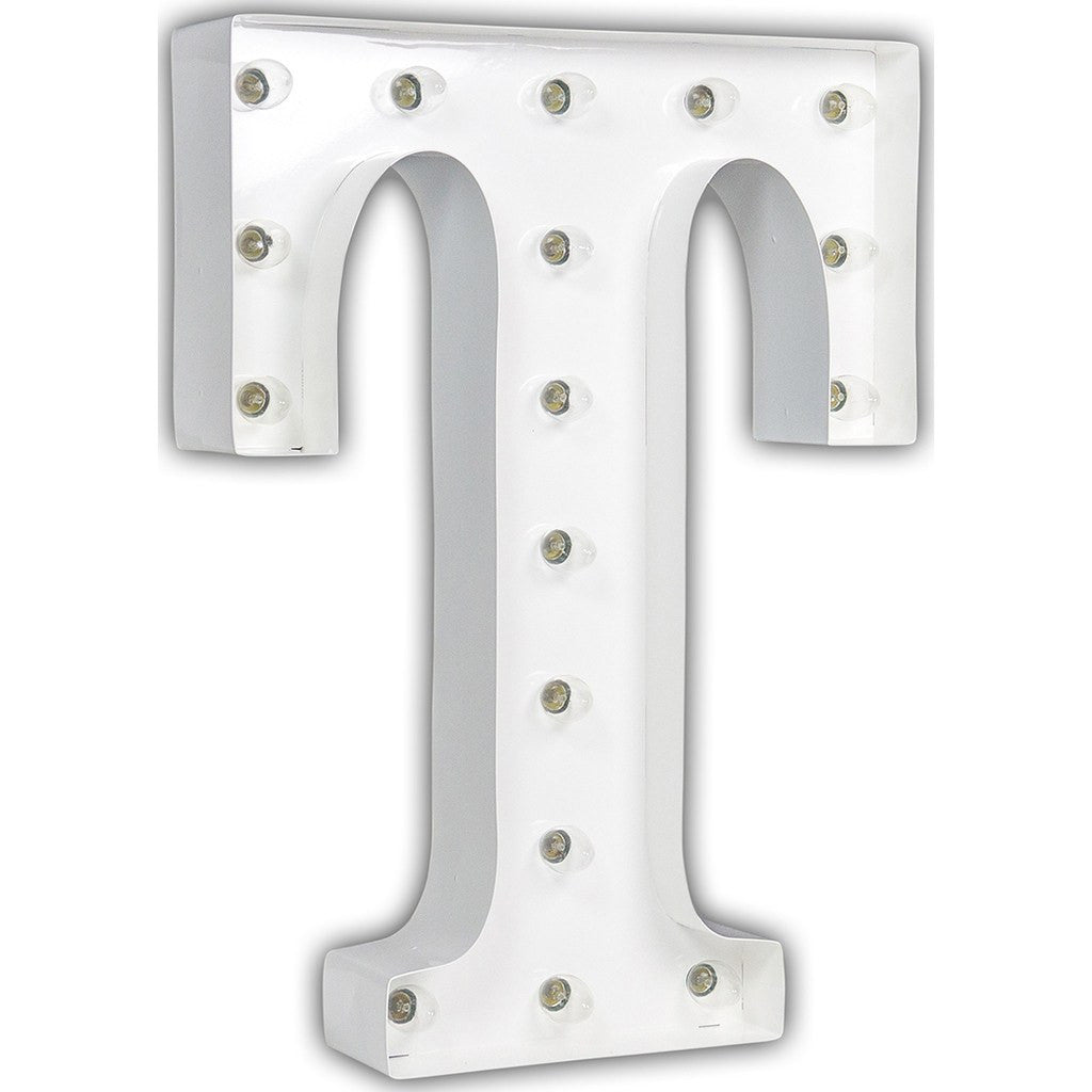 "Vintage Marquee Lights 24"" Letter T Decorative Light 