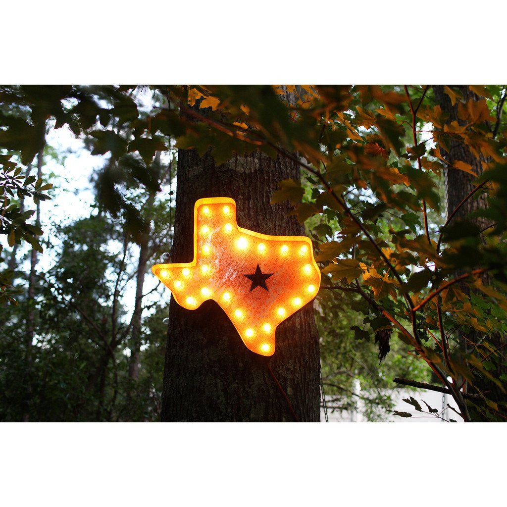 "Vintage Marquee Lights 24"" Texas Decorative Light 