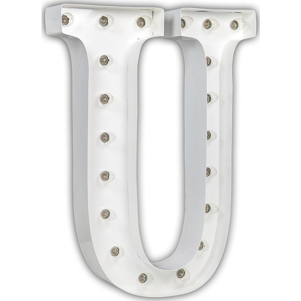 "Vintage Marquee Lights 24"" Letter U Decorative Light 
