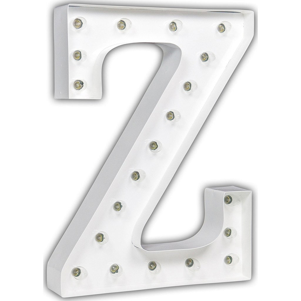 "Vintage Marquee Lights 24"" Letter Z Decorative Light 