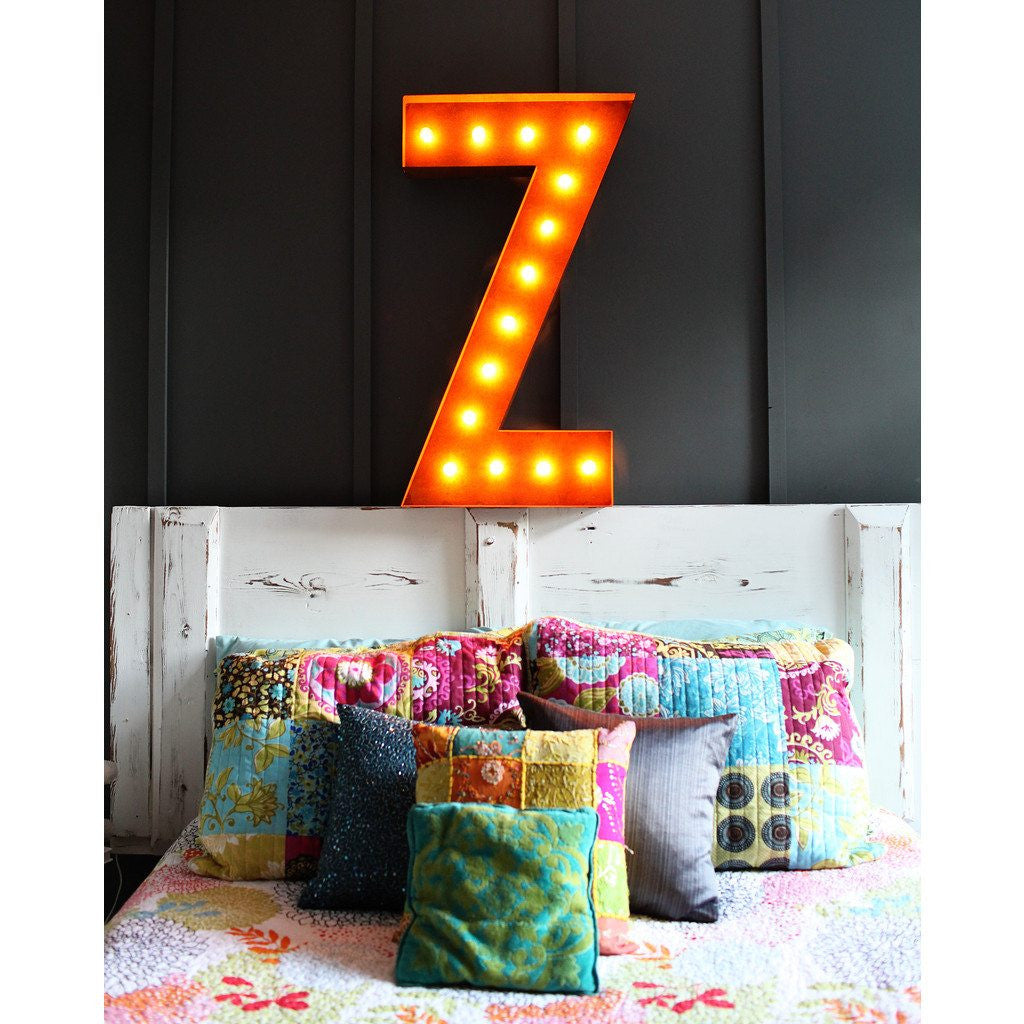 "Vintage Marquee Lights 36"" Letter Z Decorative Light 