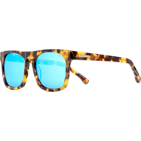 Vestal Satellites Sunglasses | Black And Gold Chunky Tort/Blue Mirror VVSA012