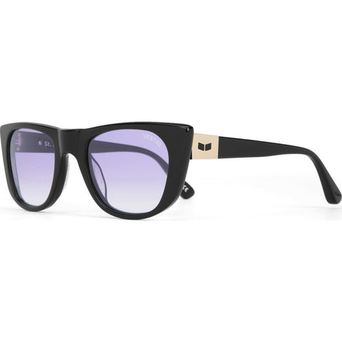 Vestal St. Jane Sunglasses | Polished Black/Purple Grad./Silver VVSJ015