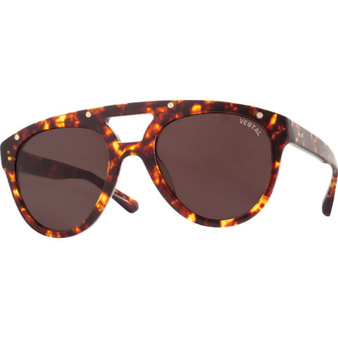 Vestal Salton Sunglasses | Polished Tortoise/Brown/Brushed Gold VVSL002