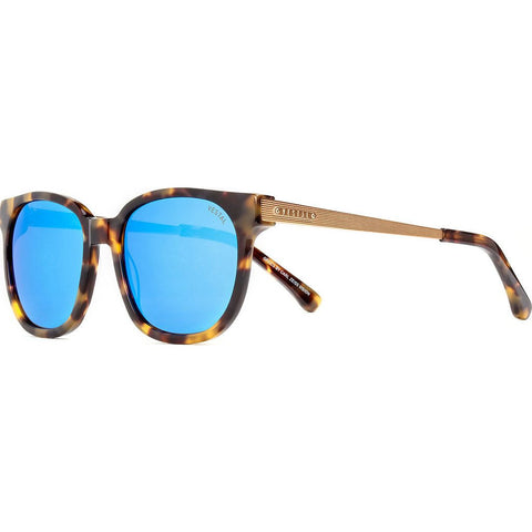 Vestal Windrose Sunglasses | Black And Gold Chunky Tort/Blue Mirror VVWR016