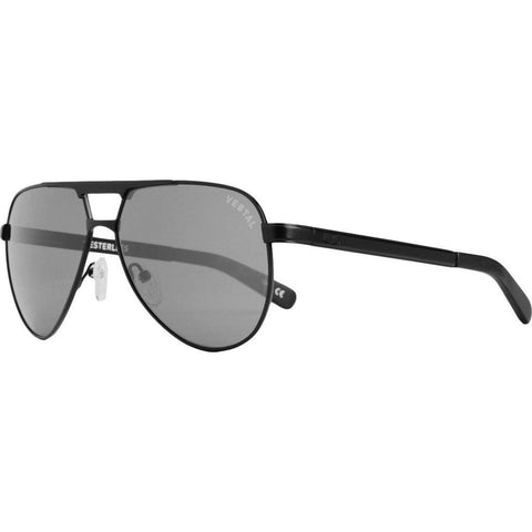 Vestal Westerlies Sunglasses | Black Leather/Grey VVWS012