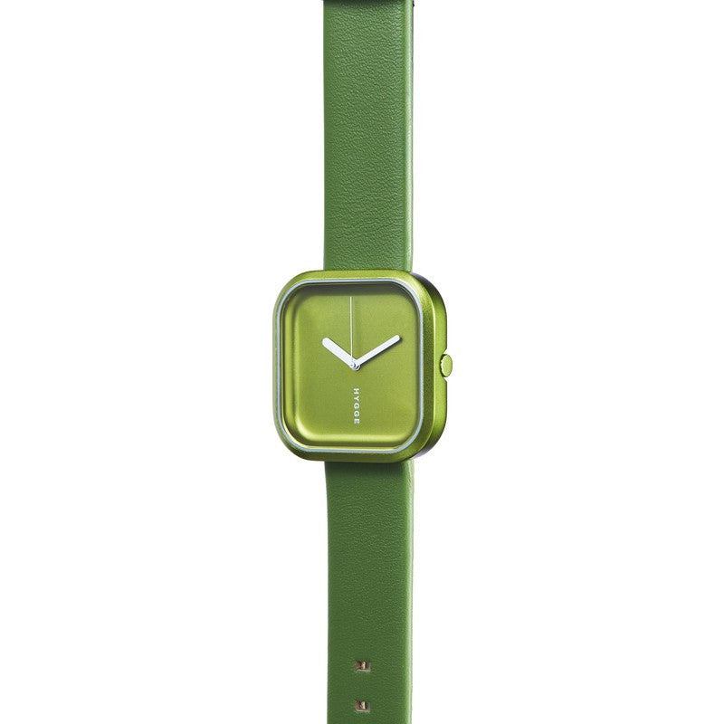 Hygge Väri Forest Green Watch | Green Leather