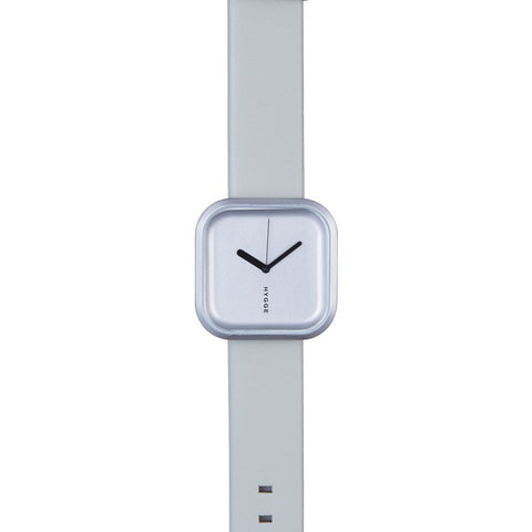 Hygge Väri Snow Grey Watch | Light Grey Leather