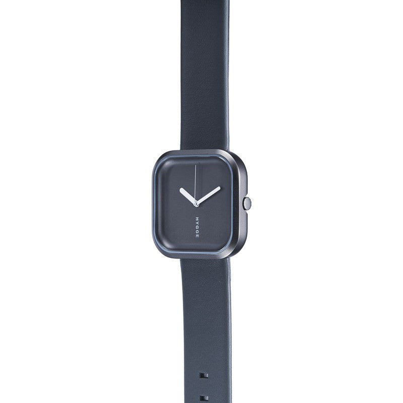 Hygge Väri Stone Grey Watch | Dark Grey Leather