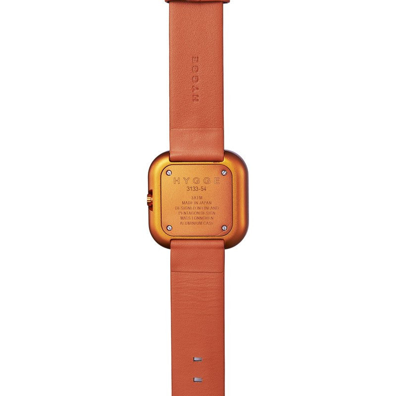 Hygge Väri Sunset Orange Watch | Orange Leather