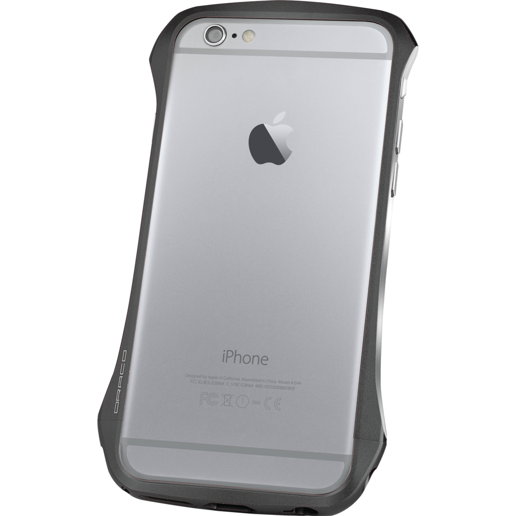 DRACO Design Ventare Aluminum Bumper iPhone 6/6s Plus Case | Black DR6P0VEA1-BKL