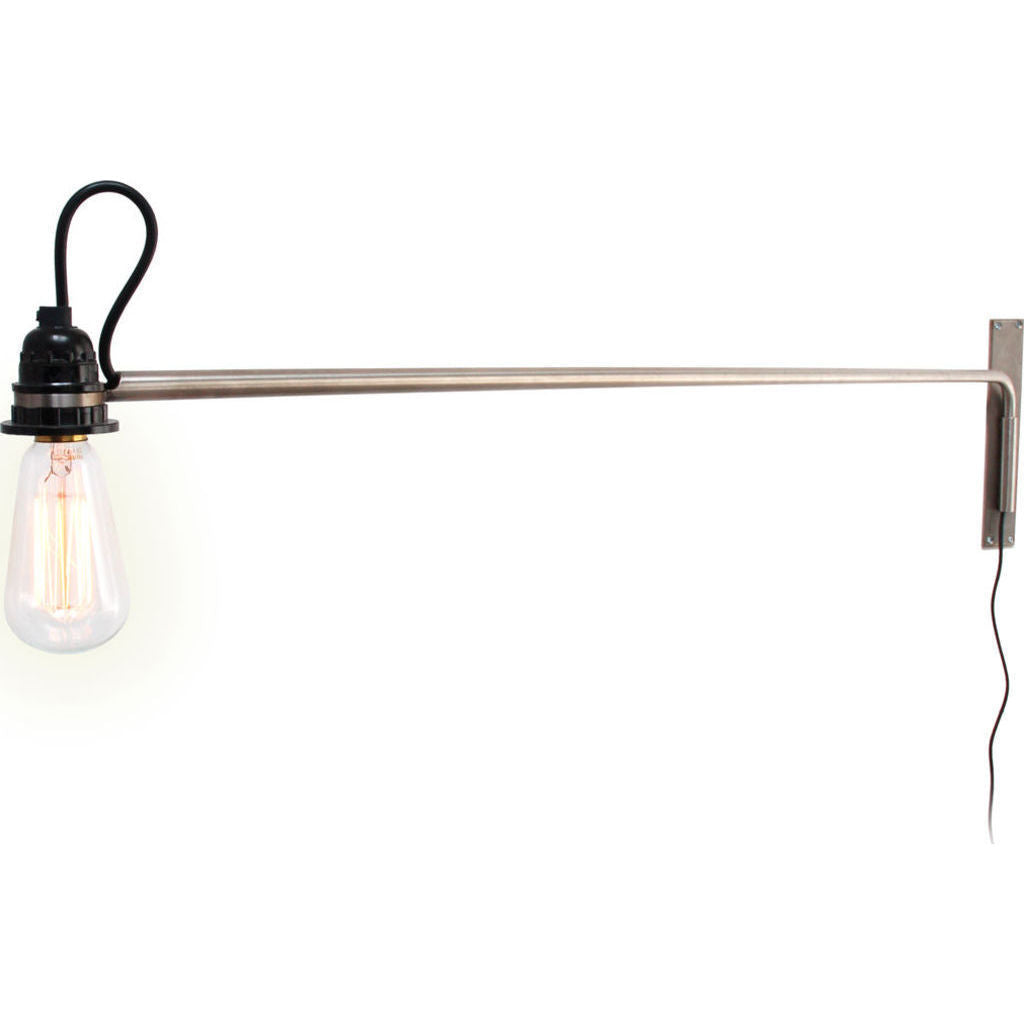 ... Gus* Modern Vintage Swing Arm Wall Lamp   Stainless Steel ACLTVSAL ...