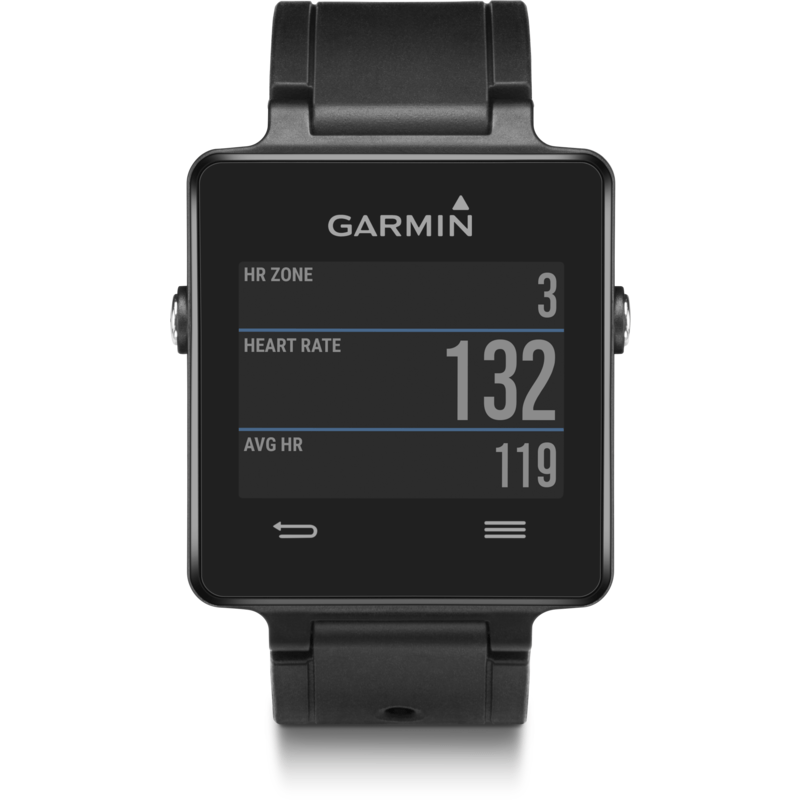 Garmin VivoActive Multi-Sport GPS Smartwatch HRM Bundle | Black