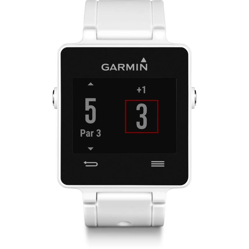 Garmin VivoActive Multi-Sport GPS Smartwatch HRM Bundle | White