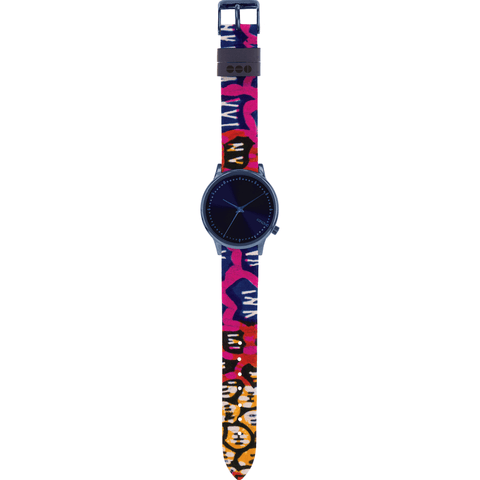 Komono x Vlisco Estelle Watch | Indigo