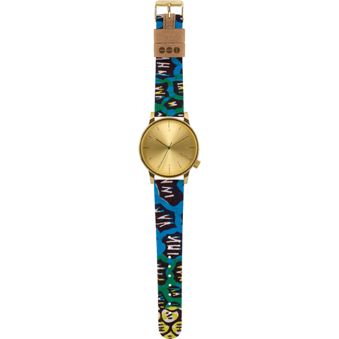 Komono x Vlisco Winston Watch | Gold