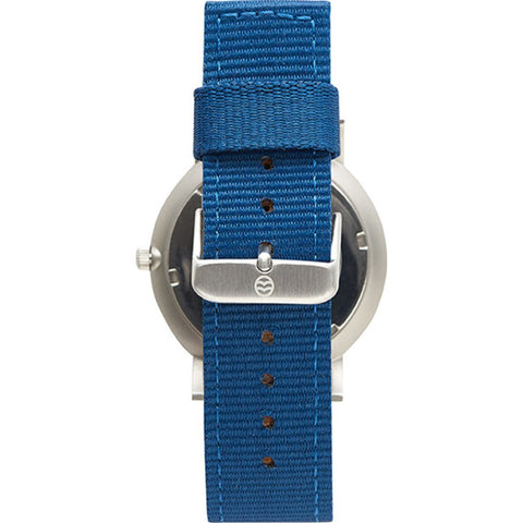 Shore Projects Whitstable Watch with Classic Strap | Silver / Charcoal / Navy S008S