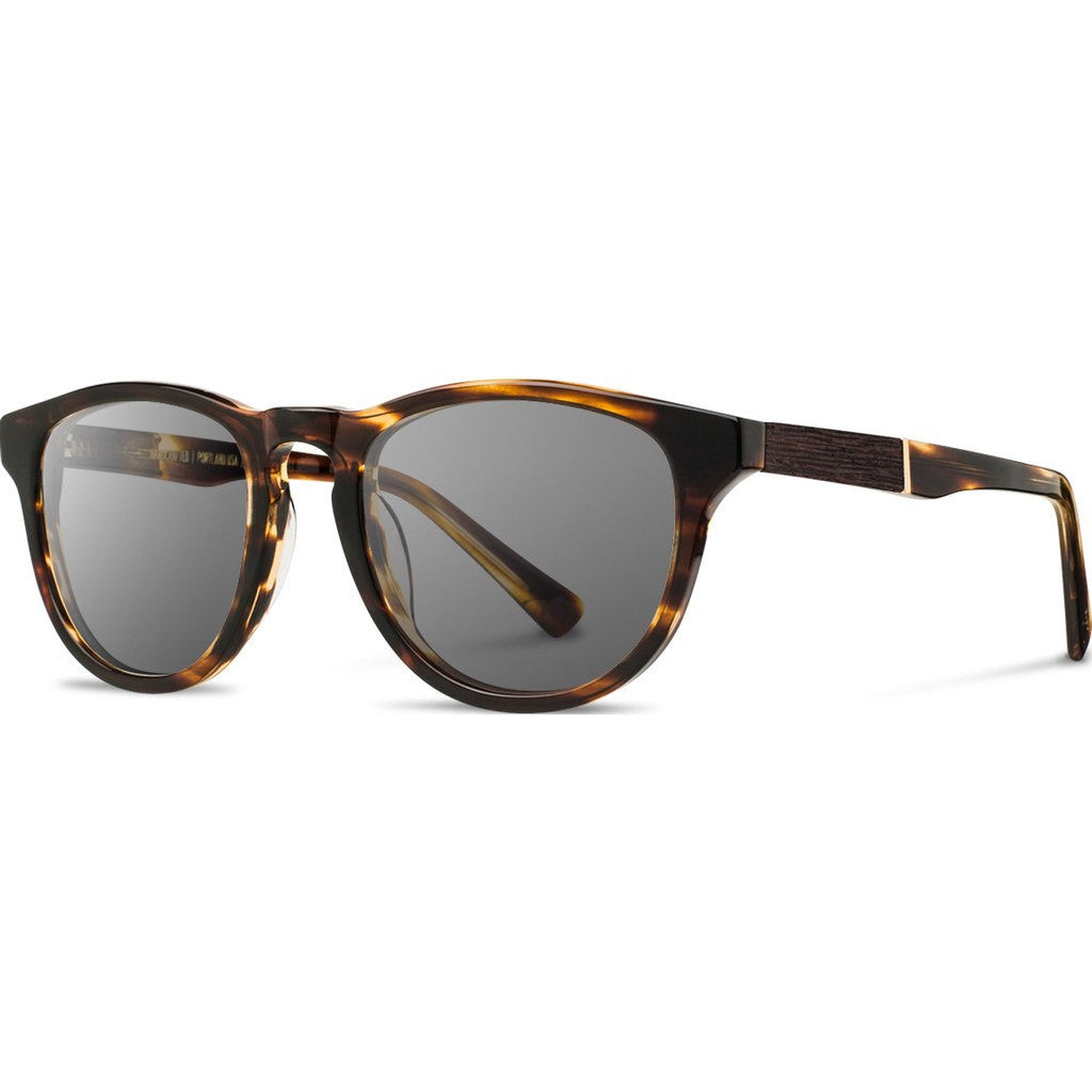 Shwood Francis Acetate Sunglasses | Tortoise & Ebony / Grey Polarized WAFTEGP
