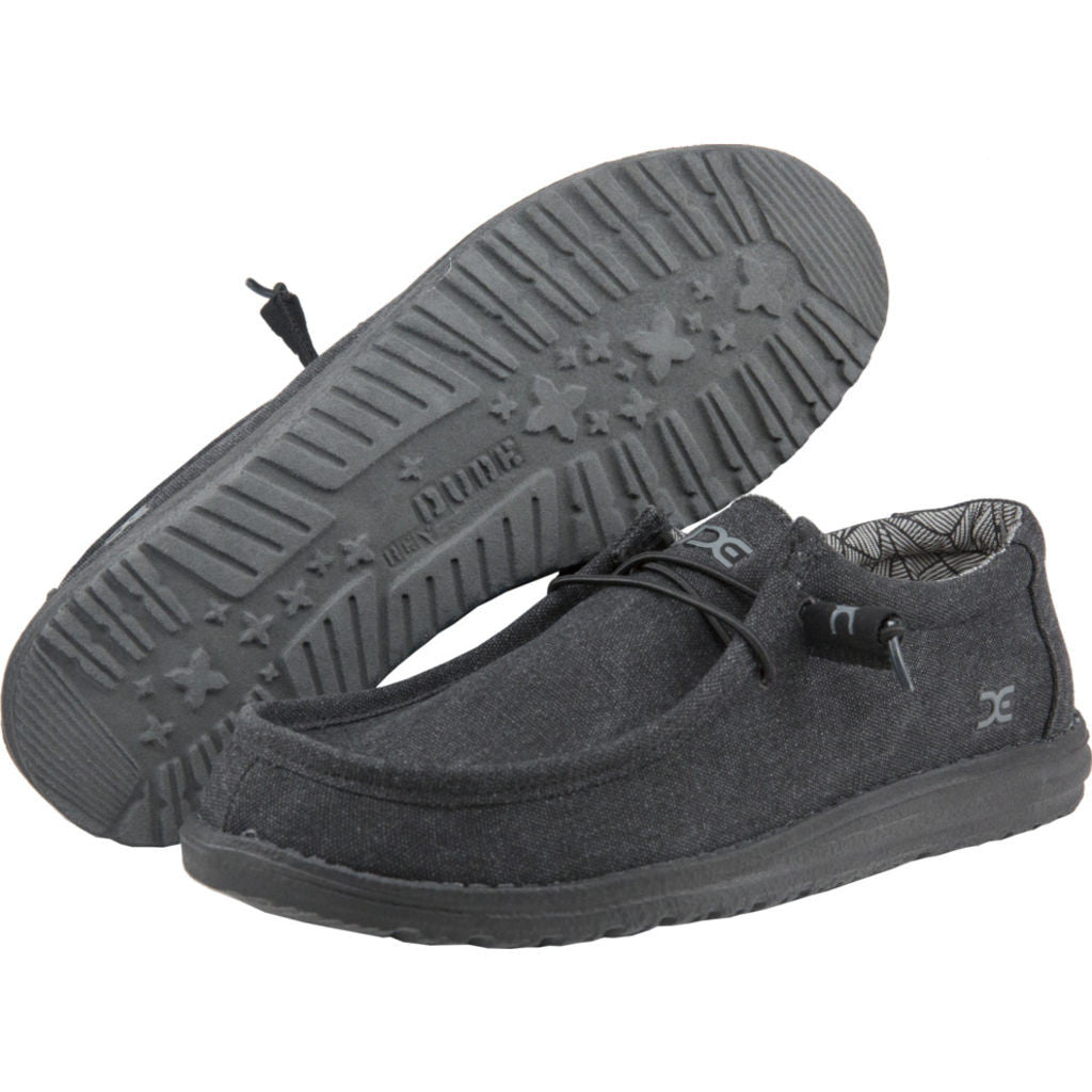Hey Dude Wally L Canvas Shoes | Black