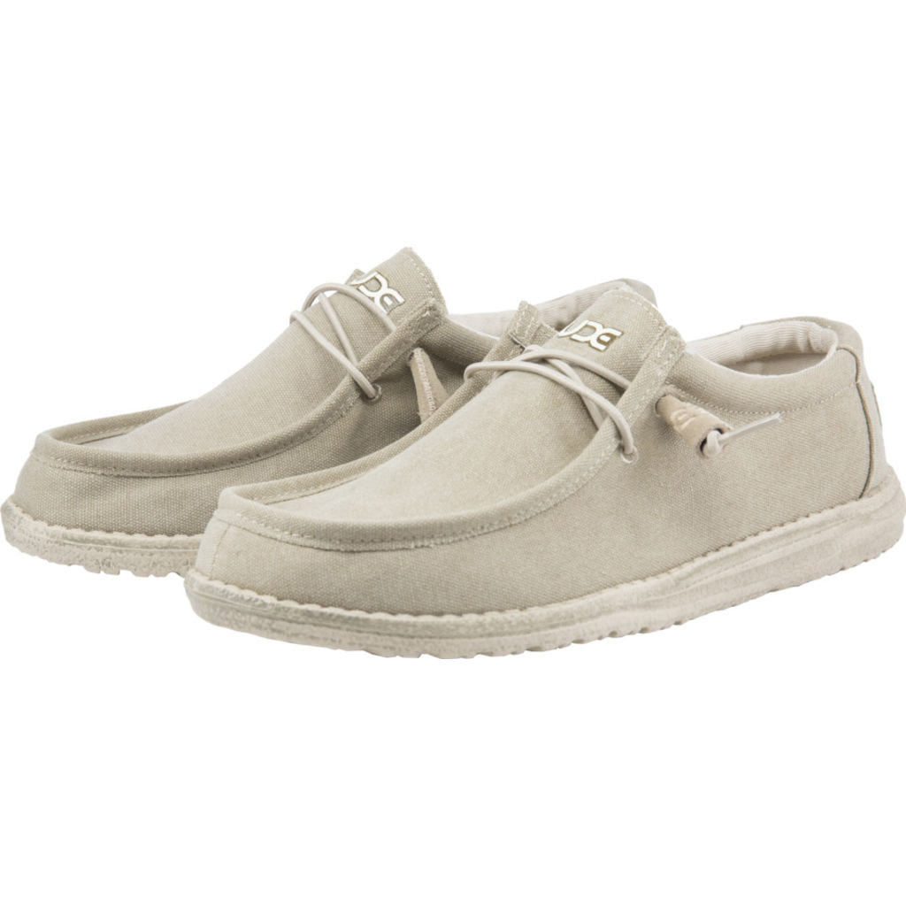 Hey Dude Wally Canvas Shoes   Oat