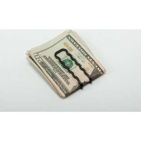 Craighill Wave Money Clip | Carbon Black