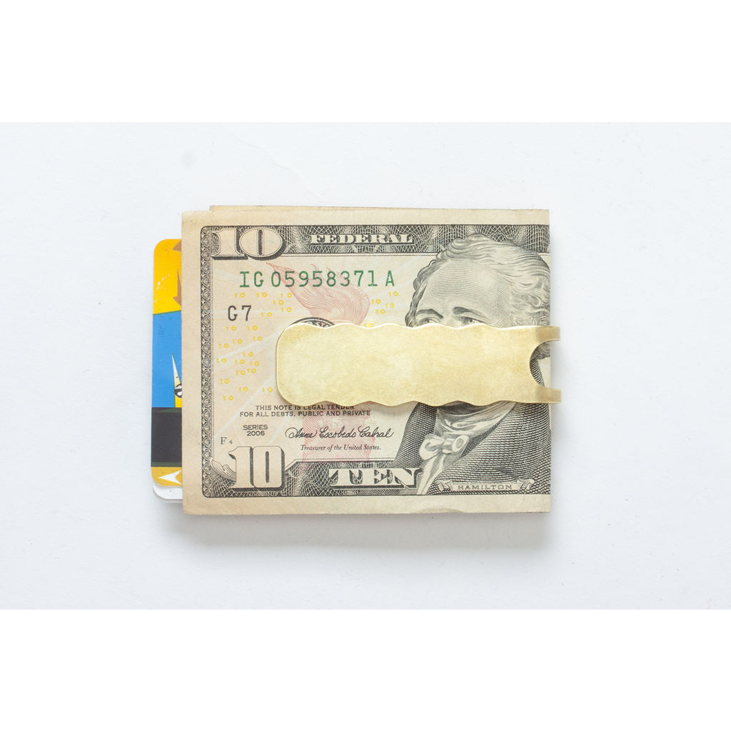 Craighill Square Wave Money Clip | Brass