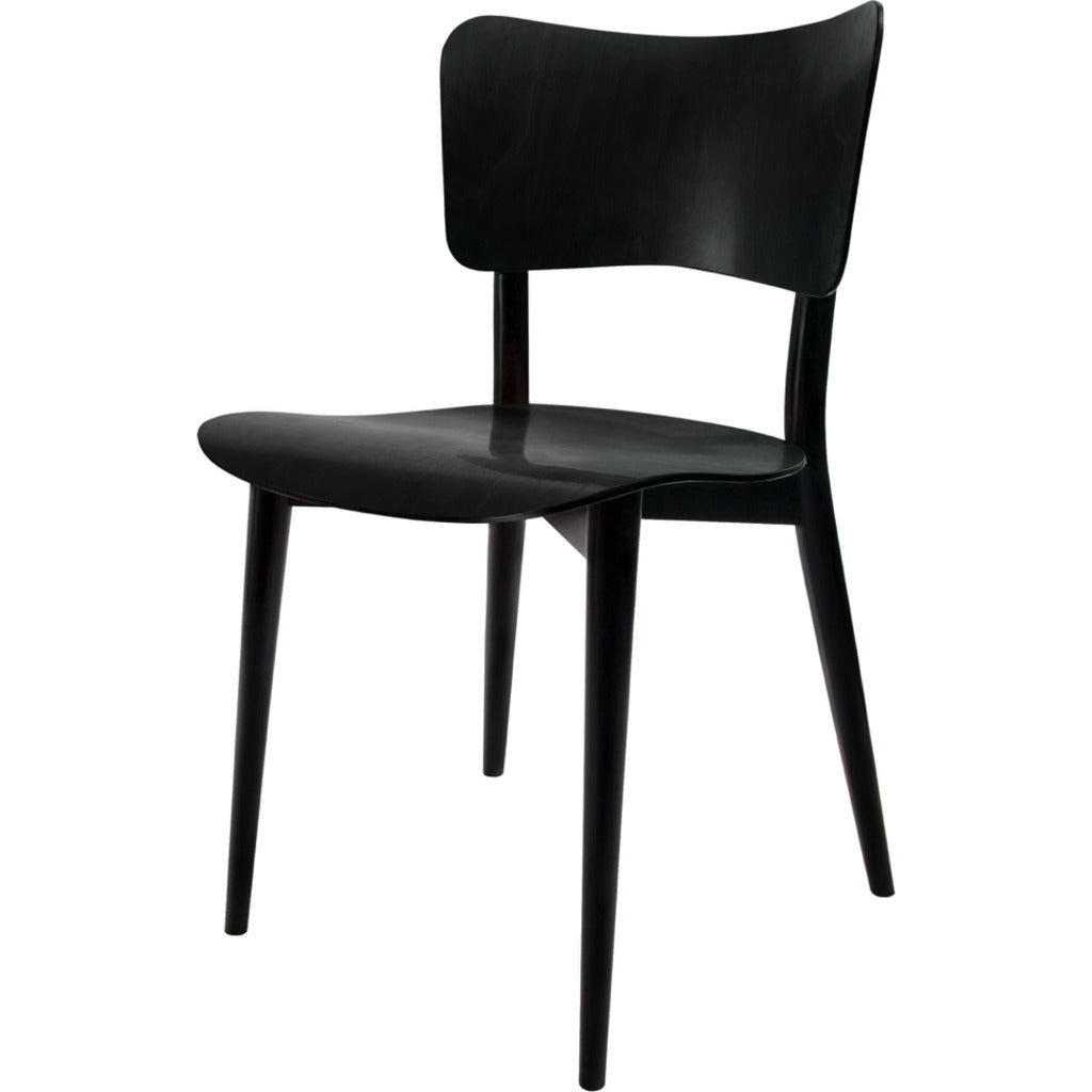 Wohnbadarf Cross Frame Dining Chair --Natural/Black WB-30-1100 B