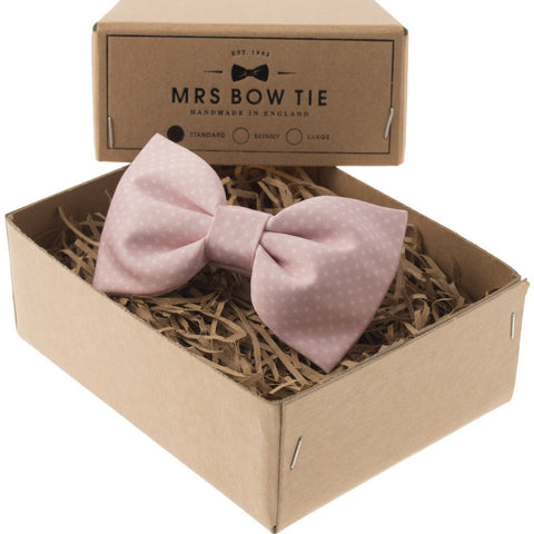 Mrs Bow Tie Dickinson Ready-Tied Bow Tie | Soft Blush WDNG109