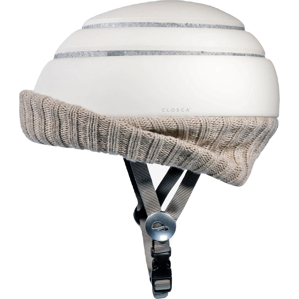 Closca Nordic Collapsible Helmet w/ Visor | Wheat/White
