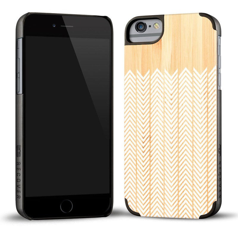 Recover Printed White Feather Wood iPhone 6 Case | Bamboo