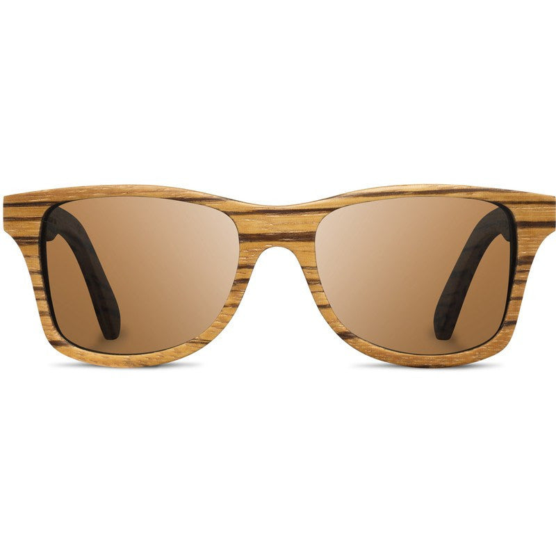 Shwood Canby Original Sunglasses | Zebrawood / Brown Polarized