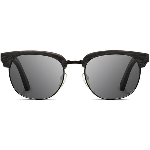 Shwood Eugene Original Sunglasses | Dark Walnut & Silver / Grey