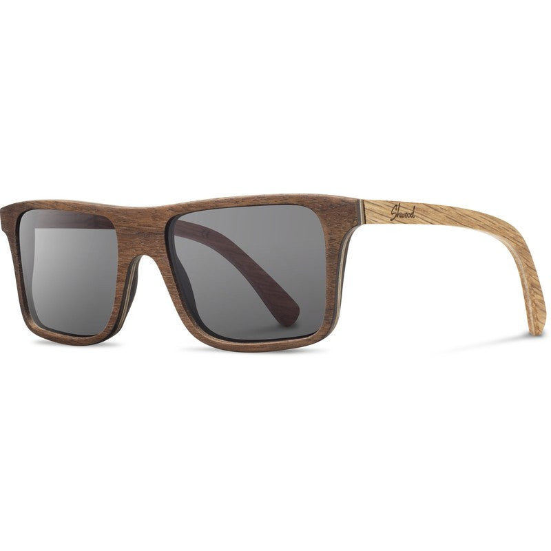 Shwood Govy Original Sunglasses | Walnut & Oak / Grey