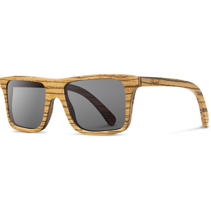 Shwood Govy Original Sunglasses | Zebrawood / Grey
