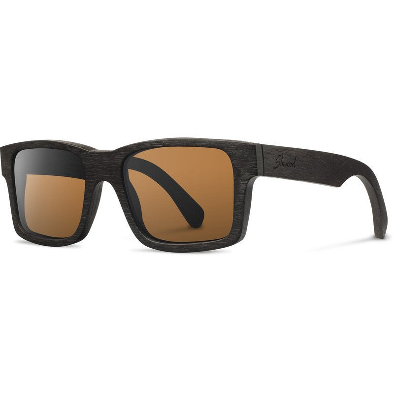 Shwood Haystack Original Sunglasses | Dark Walnut / Brown Polarized