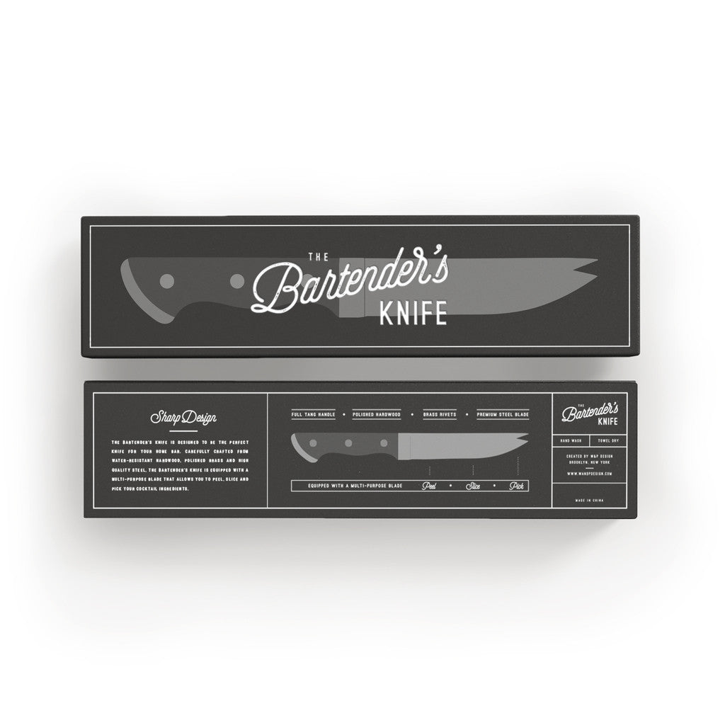 W&P Design The Bartender's Knife | Silver/Brown WP-BAR-KNIFE