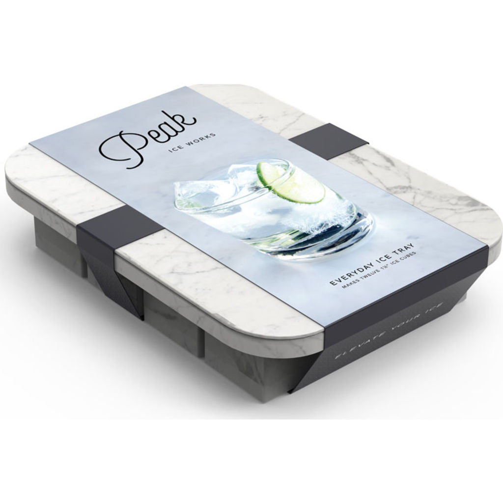 W&P Design Peak Everyday Ice Tray | White Marble wp-ice-ed-mw