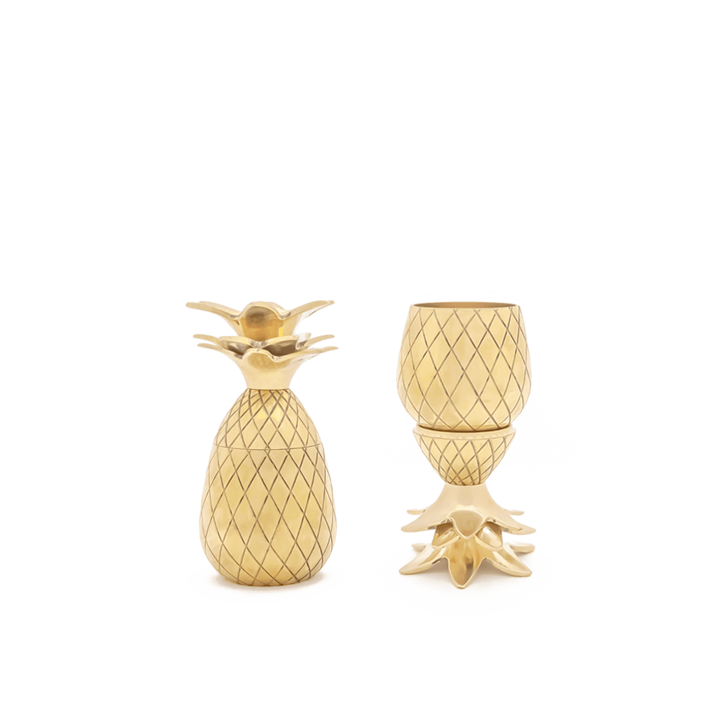 W&P Design Pineapple Shot Glass Set | Gold MAS-PINEG-2