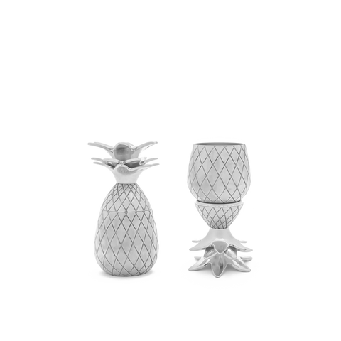 W&P Design Pineapple Shot Glass Set | Silver MAS-PINES-2